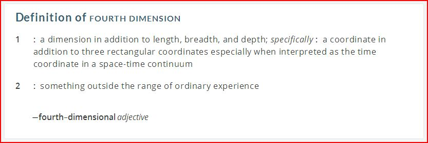 definition of the 4th dimension